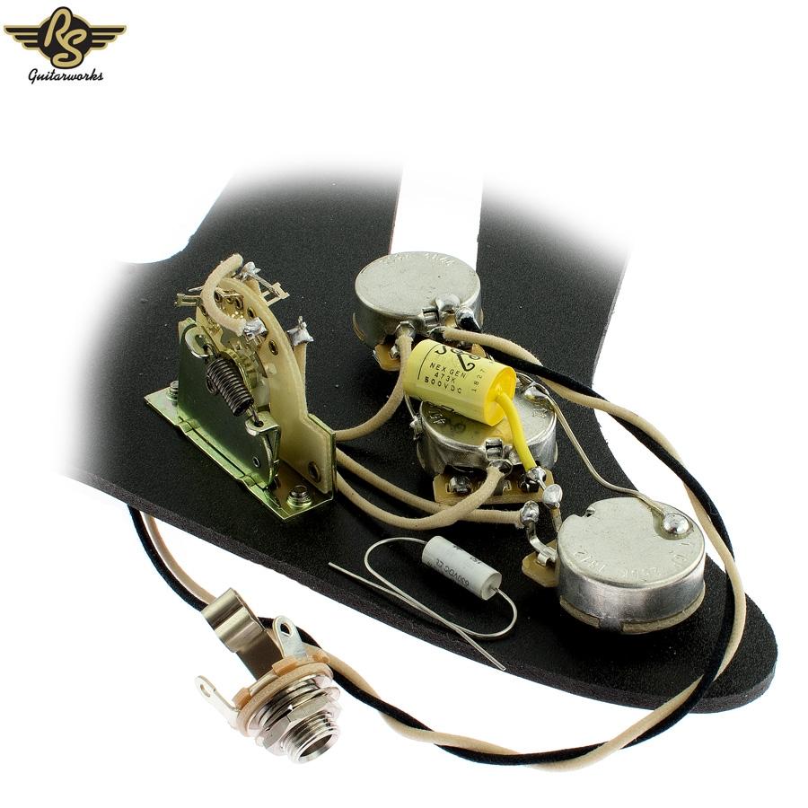 pre wired premium modern strat upgrade kit charles guitars. Black Bedroom Furniture Sets. Home Design Ideas