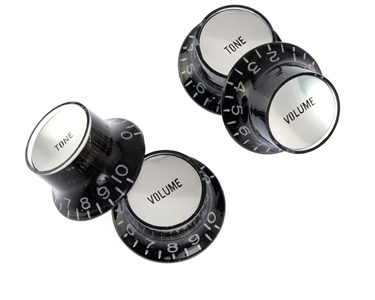 black reflector knobs silver