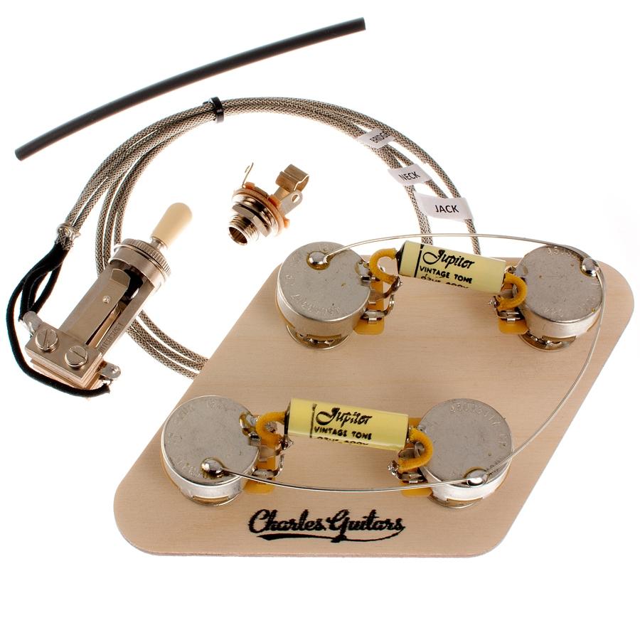 Long Shaft Les Paul Premium Pre Wired Kit Charles Guitars Vintage Wiring Harness Uk Jupiter