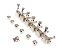 Kluson 6 in Line Set of Tuners Shiny or De-Shined
