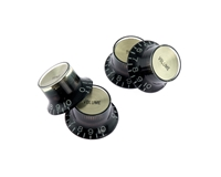 Reflector Knobs Black with Gold Top